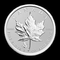 Moneda de Plata Privada Hoja de Arce Canadiense Año del Mono 2016 de 1 oz