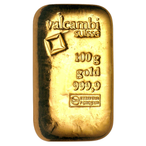 100 gram Valcambi Gold Bar