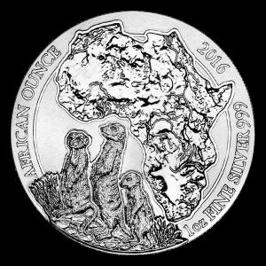 1 oz 2016 Rwanda African Meerkat Silver Coin