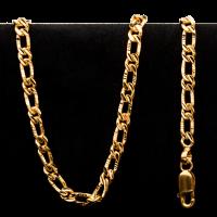 Collar de oro estilo Figarucci de 22 quilates y 51.2 gramos