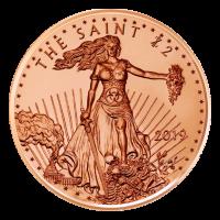 1 oz Zombucks The Saint Copper Round
