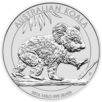 Moneda de Plata Koala Australiano 2016 de 1 kilo