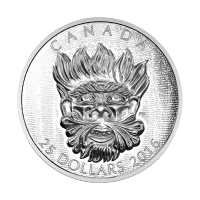 2016 Sculptural Art of Parliament | Grotesque Wild Green Man Silver Coin