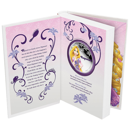 1 oz 2016 Disney Pinses Rapunzel Zilveren Munt