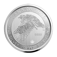 1.5 oz 2016 Canadian Snow Falcon Silver Coin