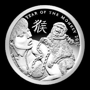 1 oz Silbermedaille - Silver Shield Jahr des Affen 2016 - Zustand: Spiegelglanz