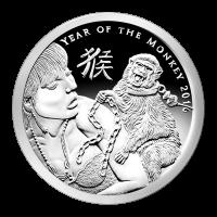 Ronda de Plata como Proof Año del Mono Silver Shield 2016 de 1 oz