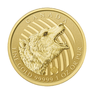1 oz 2016 Call of the Wild Series | Roaring Grizzly Gold Coin