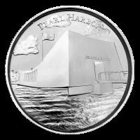 Serie Paisajes de América | Ronda de Plata Ultra Alto Relieve Pearl Harbor de 2 oz