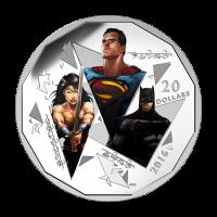 1 oz Silbermünze - Batman v Superman: Dawn of Justice™ | Trinity 2016