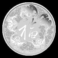 Moneda de Plata Cinco Bendiciones Cuña de Perth 2016 de 1 oz