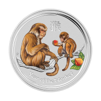 1/2 oz 2016 Perth Mint Lunar Year of the Monkey Colourized Silver Coin