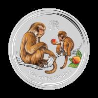 Moneda de Plata a Color Año Lunar del Mono Casa de la Moneda de Perth 2016 de 1/2 oz