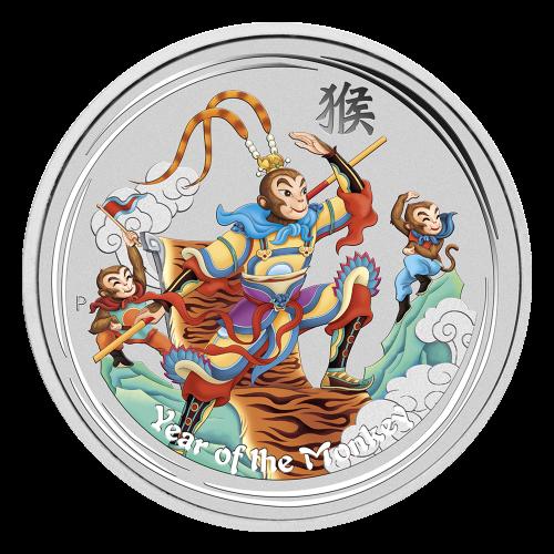 """Effigy of Queen Elizabeth II and the words """"Elizabeth II Australia 1 Dollar 1 oz 999 Silver 2016"""""""