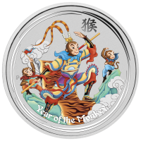 5 oz 2016 Perth Mint Monkey King Colourized Silver Coin