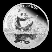Moneda de Plata Proof Especies Amenazadas Panda Gigante 2016 de 1 oz