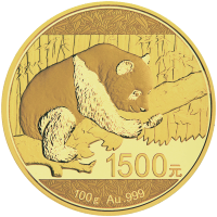 100 g 2016 Chinese Panda Gold Proof Coin