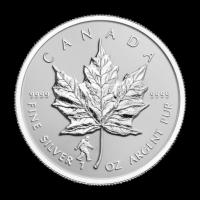 Moneda de Plata Proof Hoja de Arce Canadiense Bigfoot Reverso Privado 2016 de 1 oz