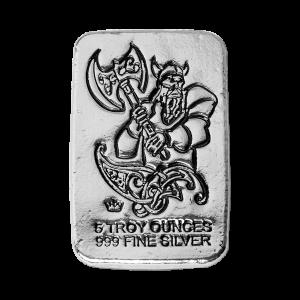 5 oz Monarch Precious Metals Hand Poured Battle Axe Viking Warrior Silver Bar
