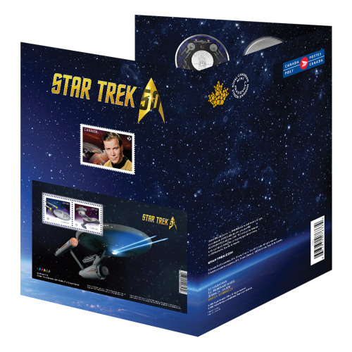 2016 RCM Star Trek™ | Enterprise Coin and Stamp Set