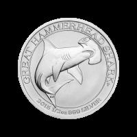1/2 oz Silbermünze - Großer Hammerhai - Perth Prägeanstalt 2015