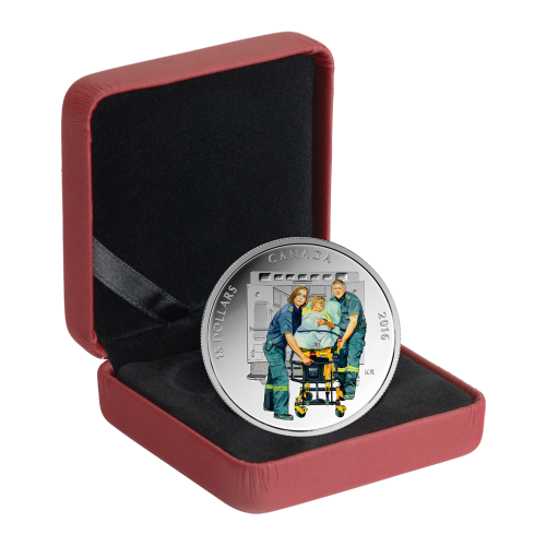 3/4 oz 2016 National Heroes | Paramedics Silver Proof Coin