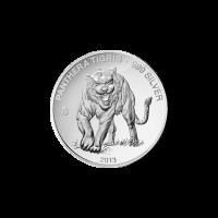 Polierte Platte Silbermünze Laos Tiger F15 Sonderprägezeichen 2013