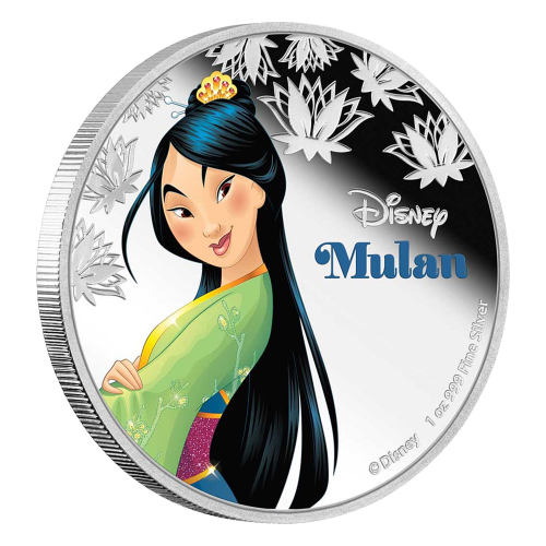 1 oz 2016 Disney Princess Mulan Silver Coin