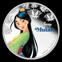 Moneda de Plata Princesa Mulan de Disney de 1 oz 2016