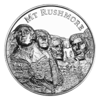 2 oz American Landmarks Series | Mount Rushmore Ultra High Relief Silver Round