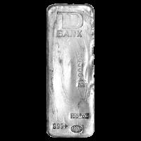 100 oz Johnson Matthey TD Bank Vintage Silver Bar