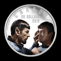 Escenas Icónicas de Star Trek™ de 1 oz 2016 | Moneda de Plata a Prueba Espejo, Espejo