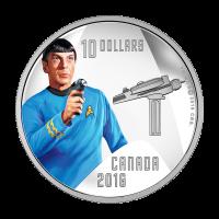 1/2 oz 2016 RCM Star Trek™ | Spock Silver Proof Coin