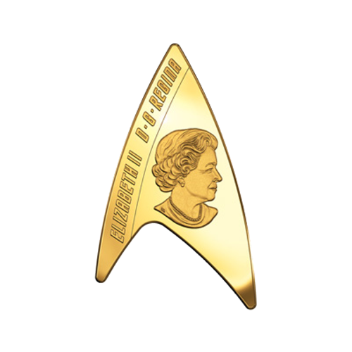 """Star Trek insignia and the words """"Canada 2016 200 Dollars"""""""