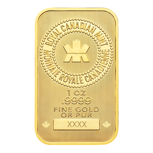 RCM logo - 1 oz - .9999 - FINE GOLD OR PUR - Serial number