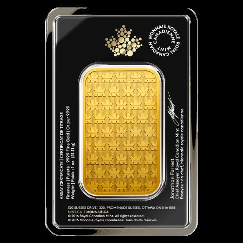 1 oz Royal Canadian Mint New Style Gold Bar