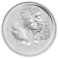 10 oz 2017 Perth Mint Lunar Year of the Rooster Silver Coin