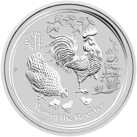 1 kg 2017 Perth Mint Lunar Year of the Rooster Silver Coin