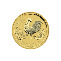 1/4 oz 2017 Perth Mint Lunar Year of the Rooster Gold Coin