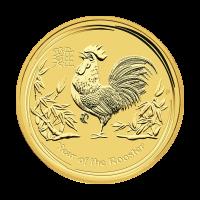 1/2 oz Goldmünze Jahr des Hahn Perth Prägeanstalt Mondserie 2017
