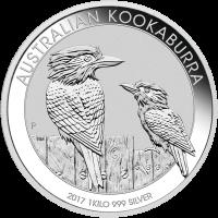 1 kg 2017 Australian Kookaburra Silver Coin