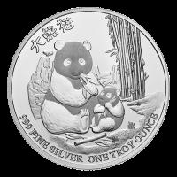 1 oz Silbermünze - Niue Silver Gold Bull exklusiver Panda - 2017