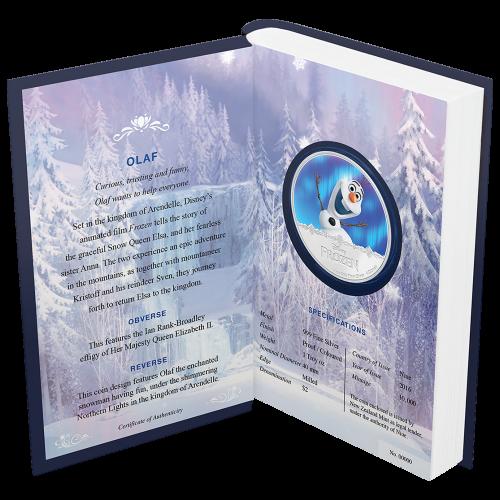 1 oz 2016 Disney Frozen   Olaf Silver Proof Coin