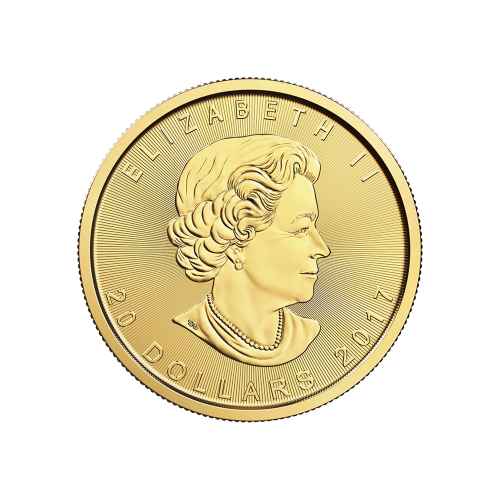 "Maple Leaf and the words ""Canada 9999 Fine Gold 1/2 oz Or Pur 9999"""