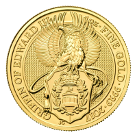 1 oz 2017 Royal Mint Queen's Beasts   Griffin of Edward III Gold Coin