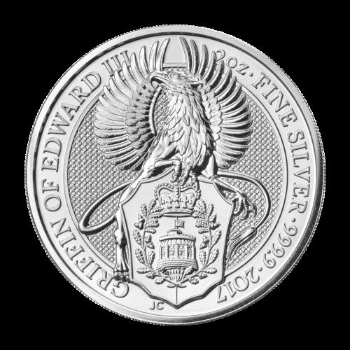 """Effigy of Queen Elizabeth II and the words """"Elizabeth II D.G. Regina Reg Fid 5 Pounds"""""""
