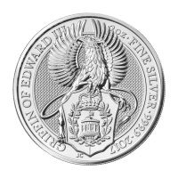 2 oz 2017 Royal Mint Queen's Beasts | Griffin of Edward III Silver Coin