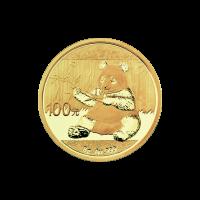 8 g 2017 Chinese Panda Gold Coin