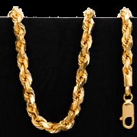 60,4 g Goldhalskette - Stil einer geschlungene Kette - 22 Karat