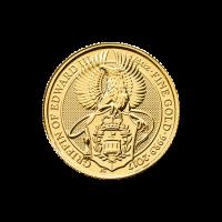 Bestias de la Reina Casa de la Moneda Real 2017 de 1/4 oz | Moneda de Oro Griffin de Eduardo III